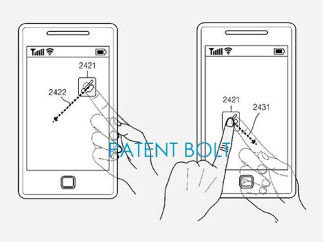 Brevet Samsung smartphone écran transparent