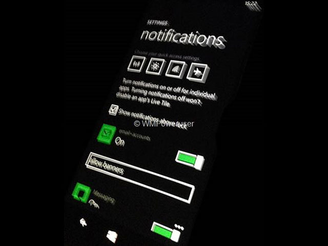 Centre notifications Windows Phone 8.1