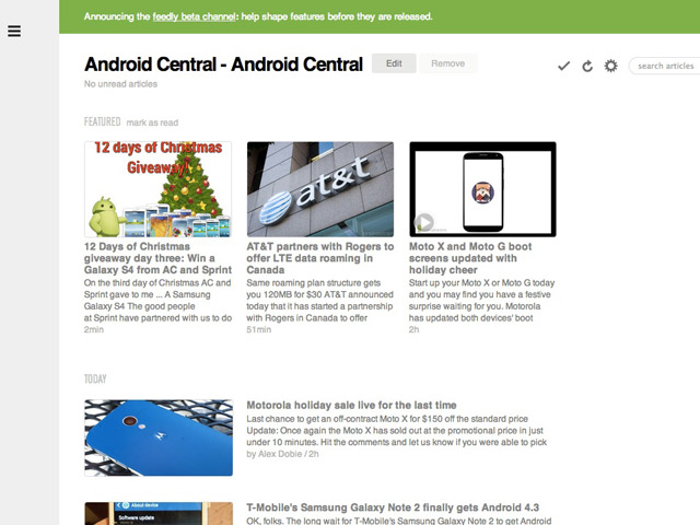 Feedly Beta Channel