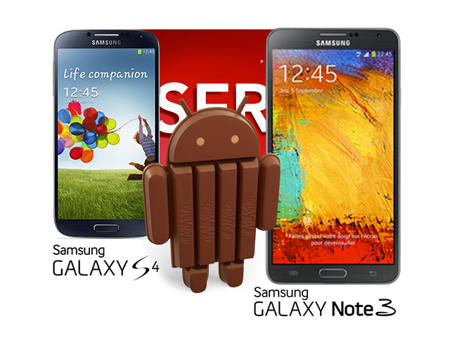 KitKat Galaxy S4 Galaxy Note 3