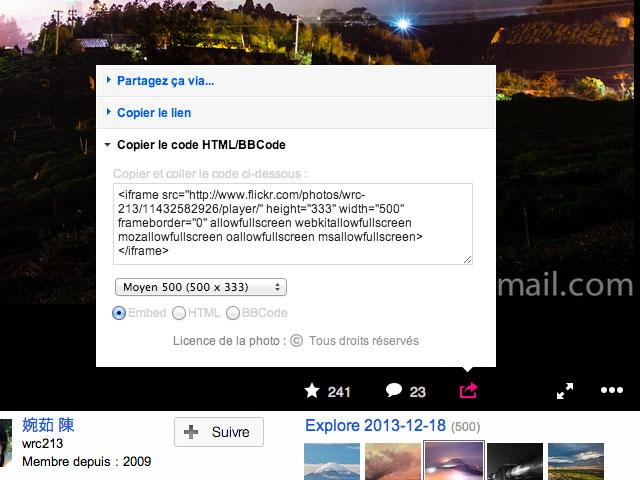 Lecteur exportable Flickr