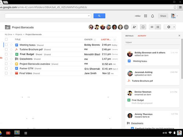 Activité Google Drive