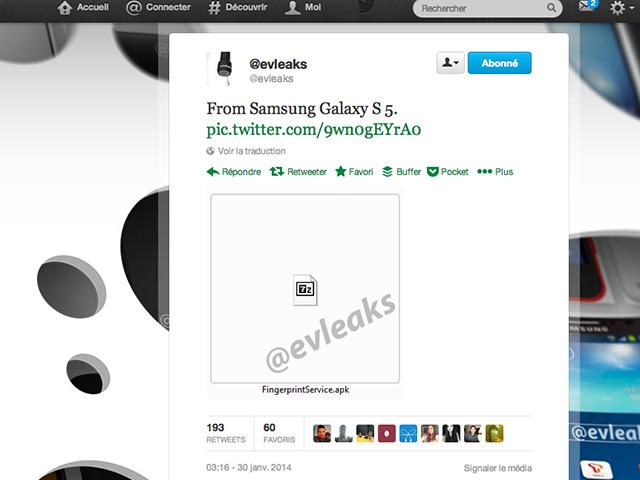 Fichier APK Samsung Galaxy S5