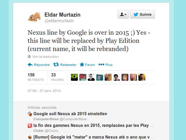 La fin des Nexus pour 2015 ?