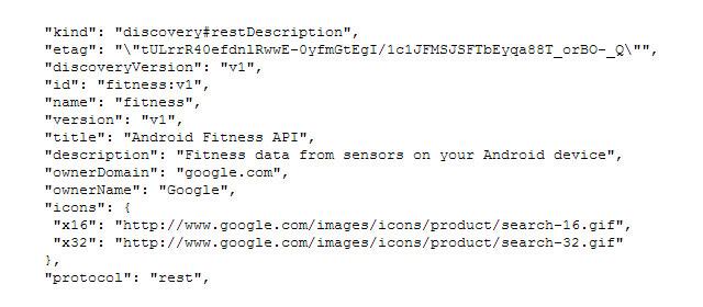 Google Fitness API
