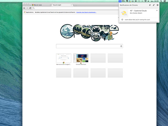 Google Now Chrome Canary
