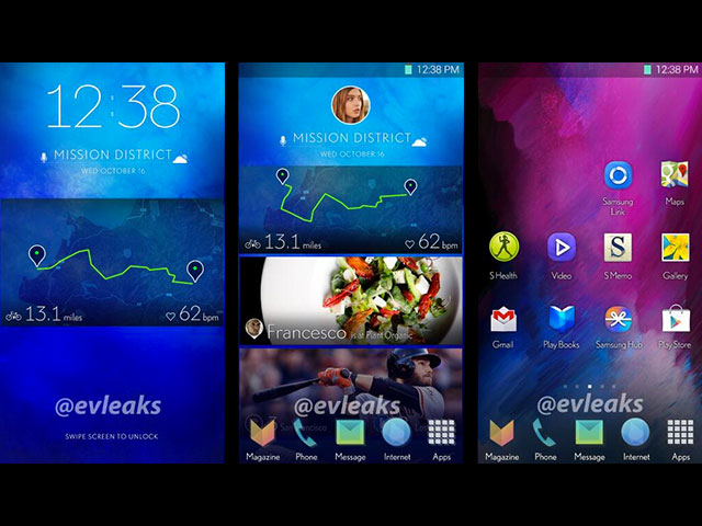 Interface Samsung Galaxy S5