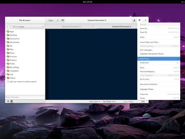 Une nouvelle interface pour gEdit !