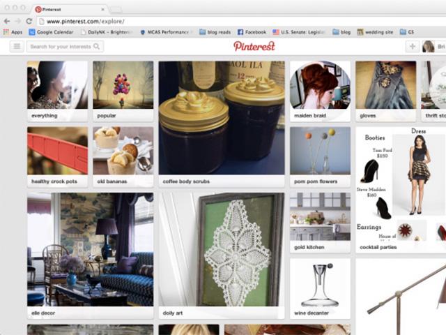 Page accueil personnalisée Pinterest : capture 3