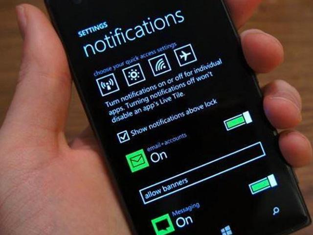Windows Phone 8.1 : une photo des paramètres du centre de notifications ?