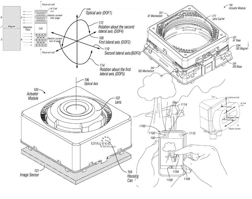 Brevet stabilisateur optique iPhone 6