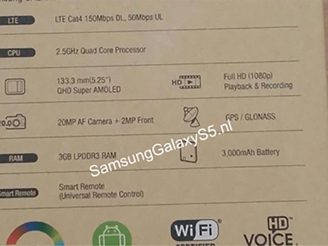 Boite Samsung Galaxy S5