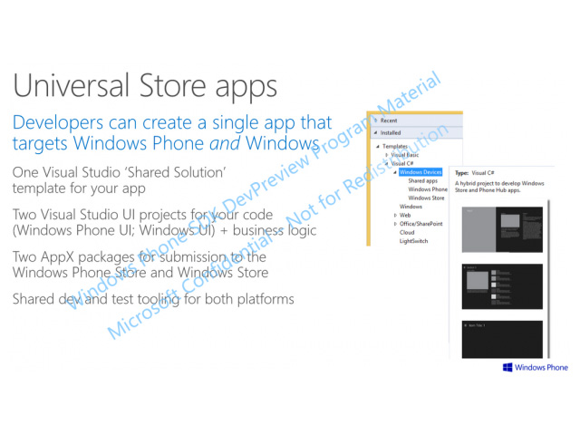 Doc applications universelles Windows Phone 8.1 image 1