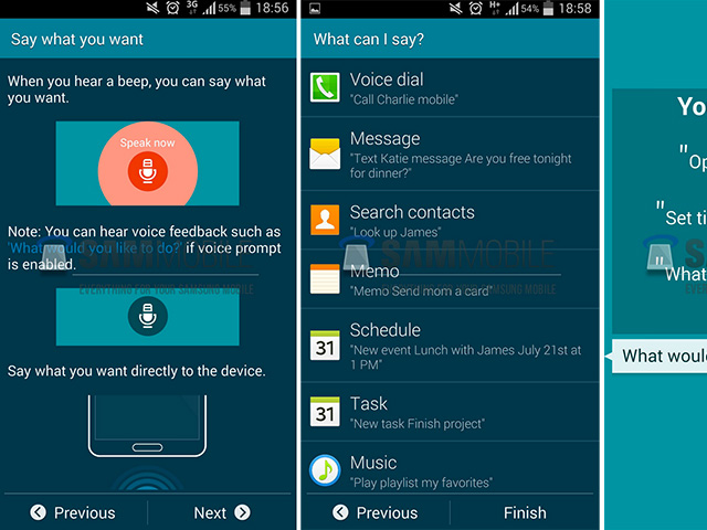 S Voice : les captures de la nouvelle version