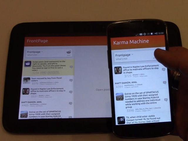 La convergence d'Ubuntu montrée en vidéo
