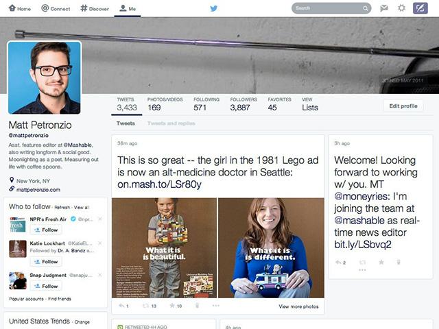 Nouveaux profils Twitter