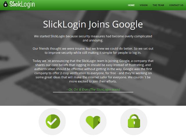 SlickLogin devient pote avec Google