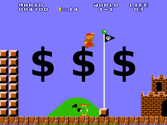 L'idée de payer pour améliorer Mario effleure les esprits