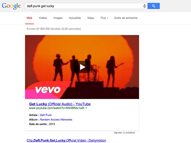 YouTube Google SERP
