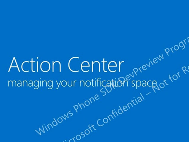 Action Center Windows Phone 8.1