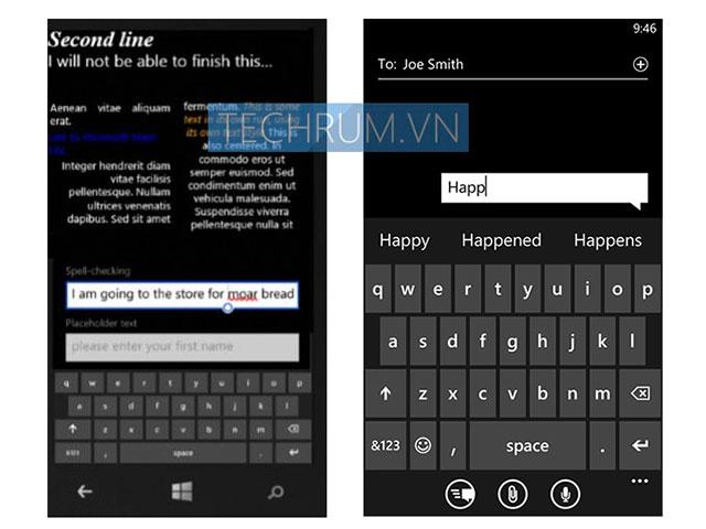 Clavier virtuel Windows Phone 8.1