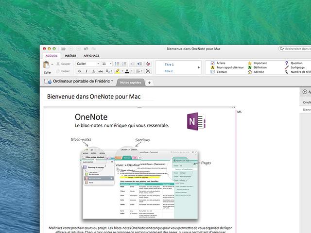 Nouvelles fonctions Microsoft OneNote