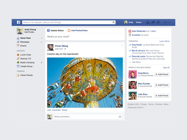 News Feed Facebook mars14