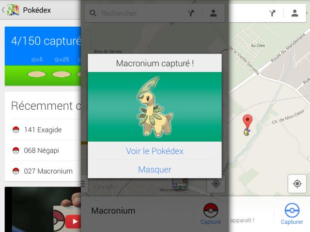 Pokémon dans Google Maps !