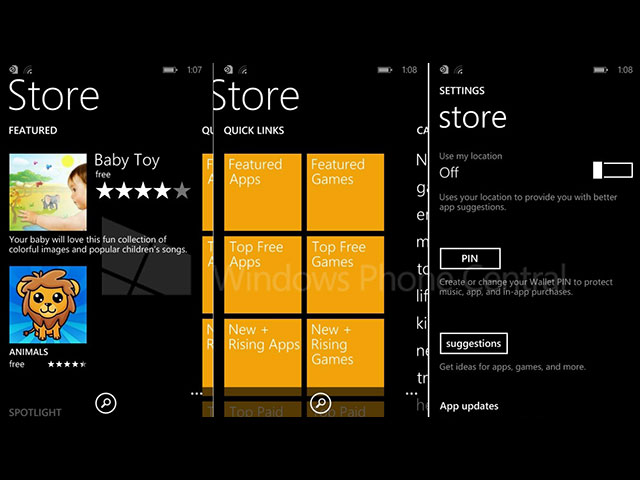 Store Windows Phone 8.1