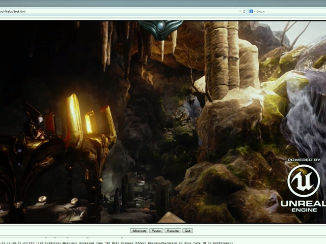 Unreal Engine 4... sur Firefox