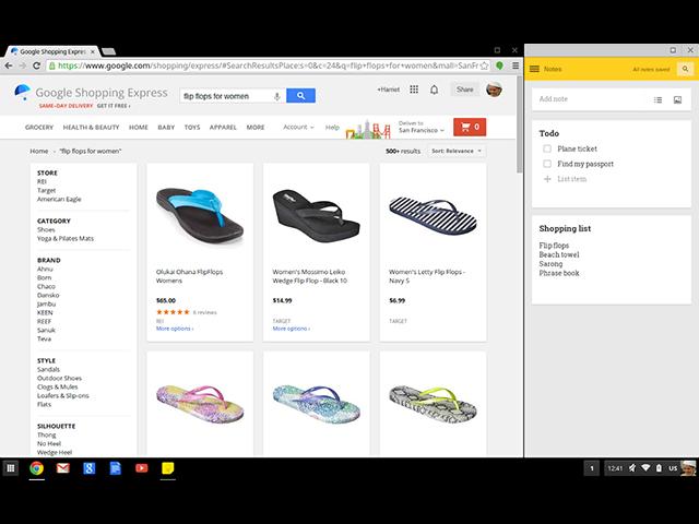 Application épinglée Chrome OS