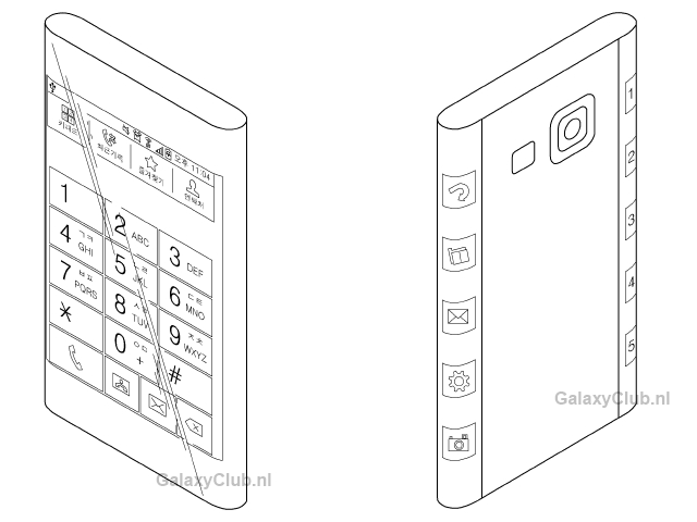 Un brevet par Samsung pour un nouveau design de smartphones