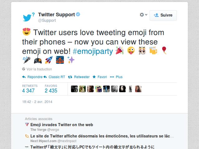 Les émoticônes débarquent sur Twitter.com !
