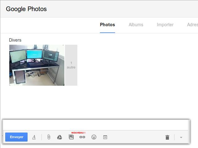 Gmail permet l'envoi de photos depuis Google+