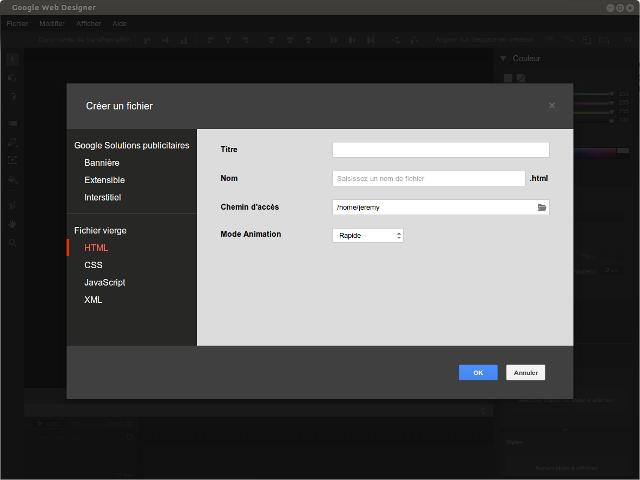 Google Web Designer est disponible sous Linux