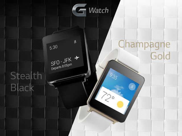 La LG G Watch en version Champagne Gold