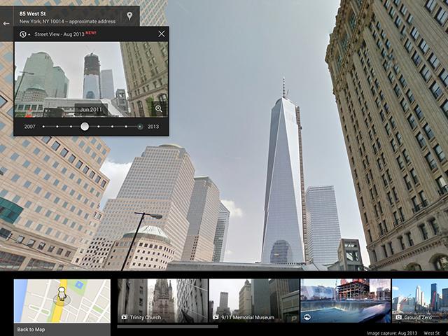Voyage dans le temps Street View