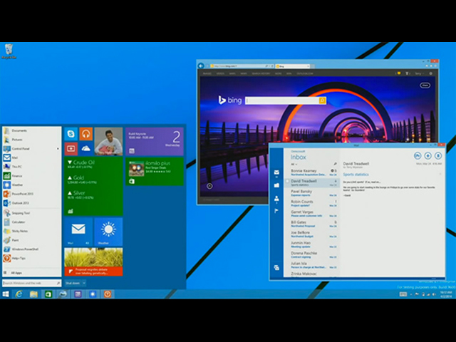 Menu démarrer Windows 8.1