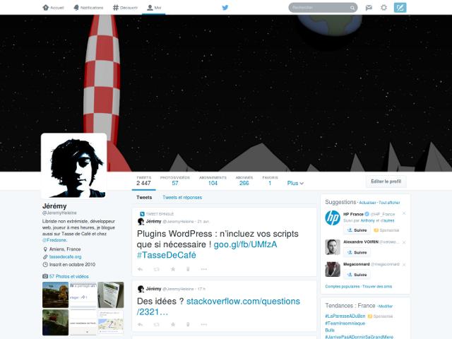 Les nouveaux profils Twitter sont là