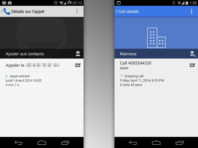 Une nouvelle interface pour le Téléphone Android