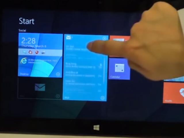 Nouvelles tuiles Windows 8.1