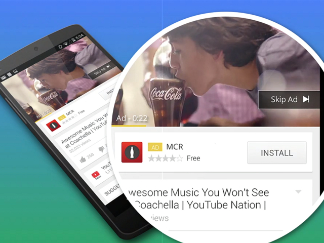 Des publicités d'installation d'applications par Google