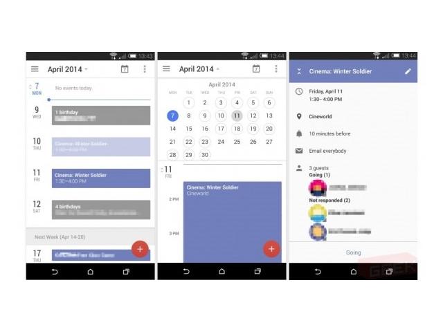 Une refonte graphique pour Google Agenda pour Android