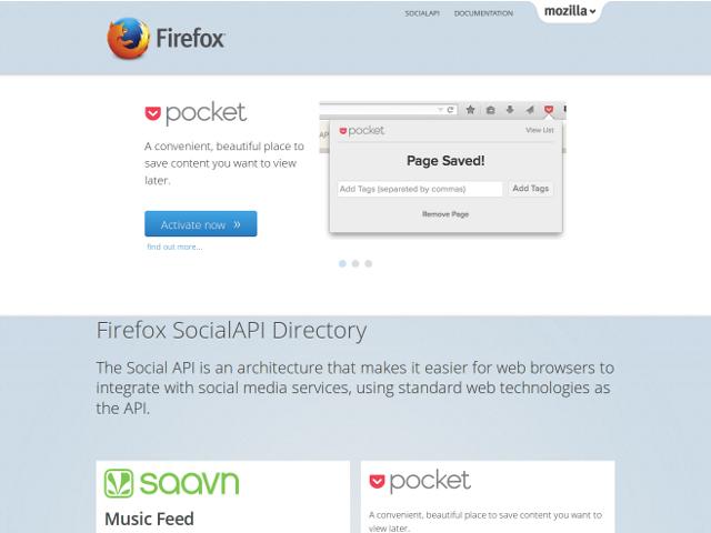 Un répertoire pour la Social API de Firefox