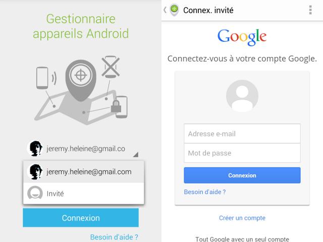 Un mode invité dans Android Device Manager