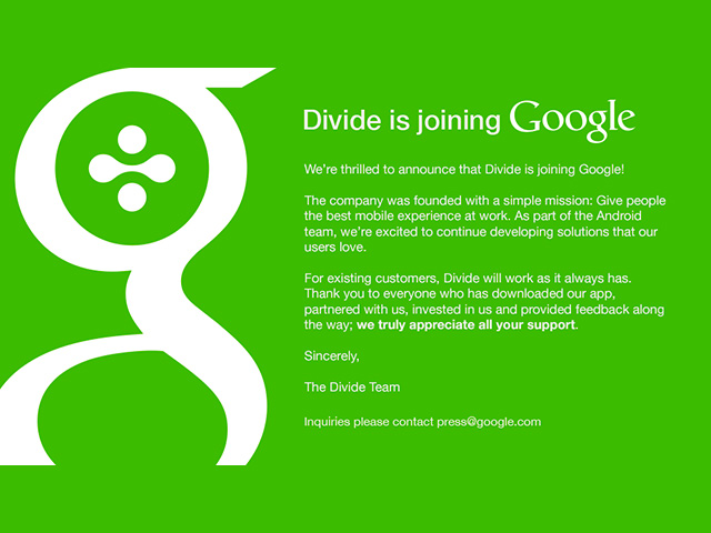 Divide Google