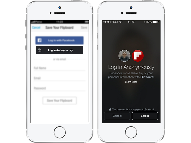 Facebook lance un bouton de connexion anonyme
