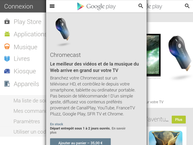 Une version mobile pour le Google Play Store