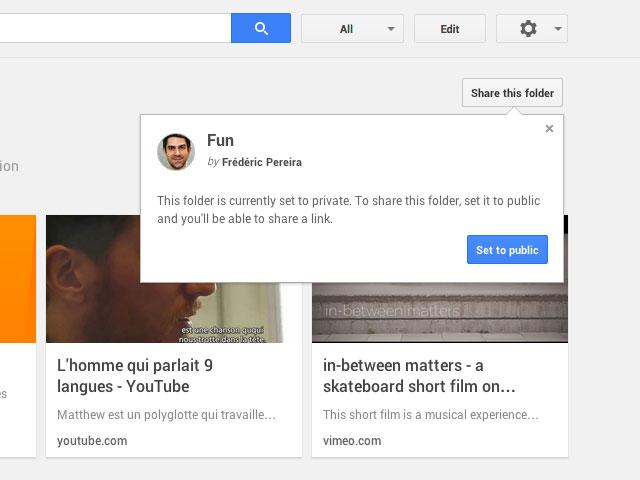 Google Stars : capture 3