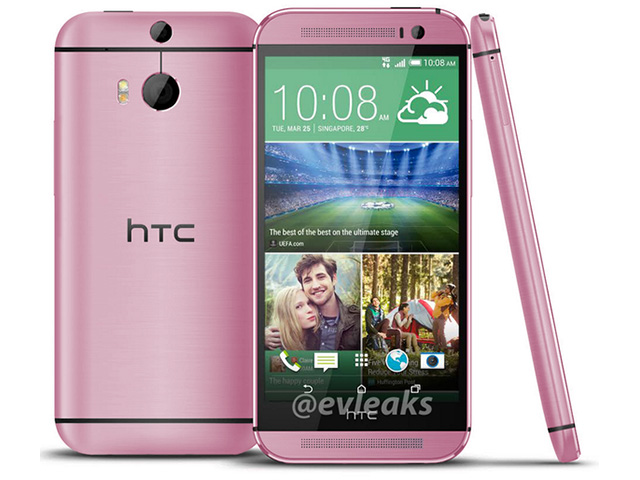 HTC One 2014 rose